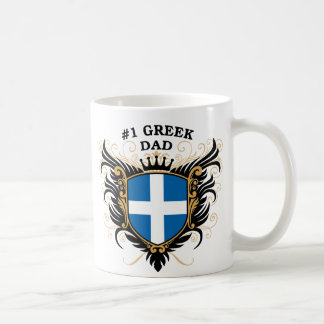 Number One Greek Dad Coffee Mug