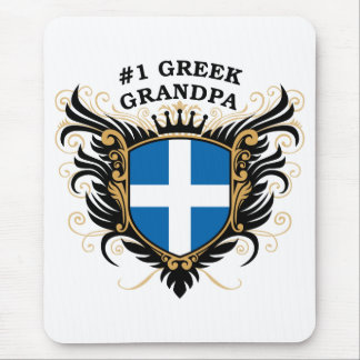 Number One Greek Grandpa Mouse Pad