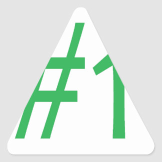 number one- green triangle sticker