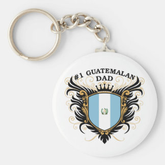 Number One Guatemalan Dad Keychain