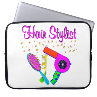 NUMBER ONE HAIR STYLIST AND BEAUTICIAN COMPUTER SLEEVE