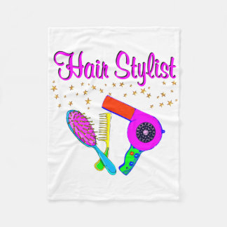NUMBER ONE HAIR STYLIST AND BEAUTICIAN FLEECE BLANKET