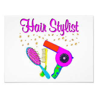 NUMBER ONE HAIR STYLIST AND BEAUTICIAN PHOTO PRINT