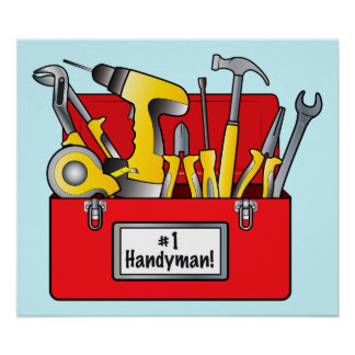 Number One Handyman Poster