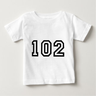 Number One Hundred and Two Baby T-Shirt