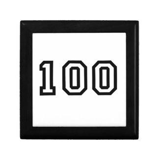 Number One Hundred Keepsake Box