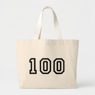 Number One Hundred Large Tote Bag
