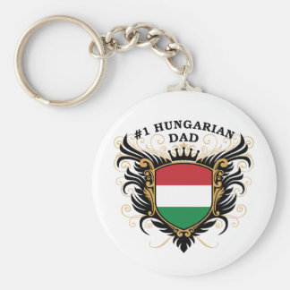 """""""Number One Hungarian Dad"""" Keychain"""