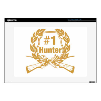 """Number One Hunter - #1 15"""" Laptop Decal"""