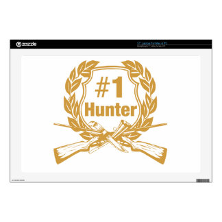 """Number One Hunter - #1 Decals For 17"""" Laptops"""