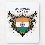 Number One Indian Uncle Mouse Pad