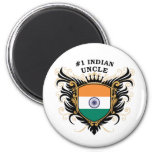 Number One Indian Uncle Refrigerator Magnets