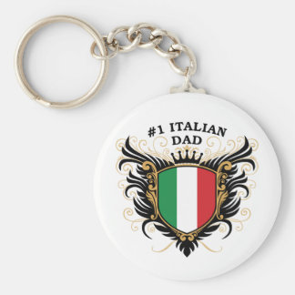 Number One Italian Dad Keychain