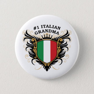 Number One Italian Grandma Button