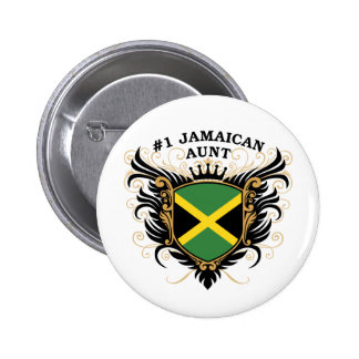 Number One Jamaican Aunt Pinback Button