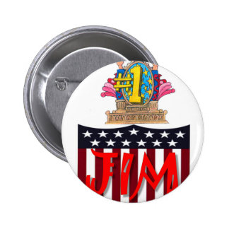 Number One jim Pinback Button