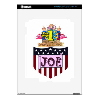 Number One Joe Decal For iPad 3