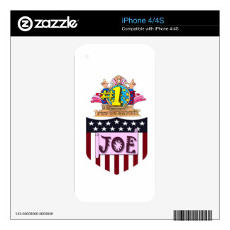 Number One Joe Decals For iPhone 4S