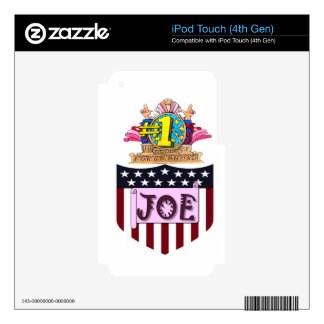 Number One Joe iPod Touch 4G Decal