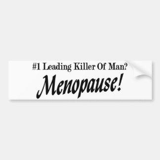 Number One Killer Of Man Bumper Sticker