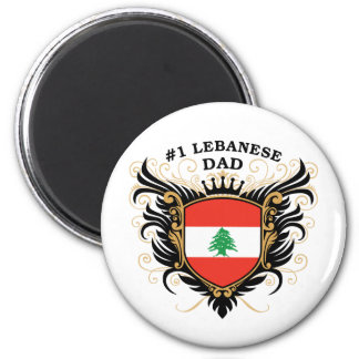 Number One Lebanese Dad 2 Inch Round Magnet