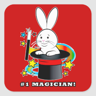 Number One Magician Square Sticker