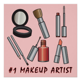 Number One Make-Up Artist Print