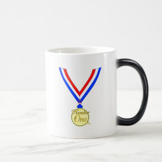 Number one medal winner gold golden magic mug