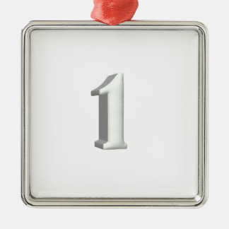 Number One Metal Ornament