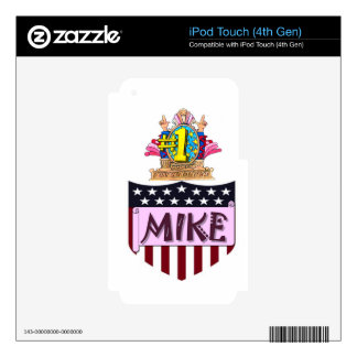 Number One Mike Decals For iPod Touch 4G