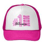 Number One Mom Best Mom Ever Custom Name V6 Trucker Hat