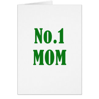 Number One Mom Card