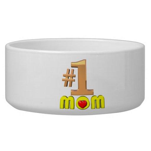 Number One Mom Dog Food Bowls
