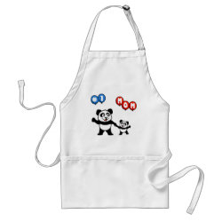 Apron with Number One Mom design