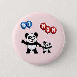 Round Button with Number One Mom design