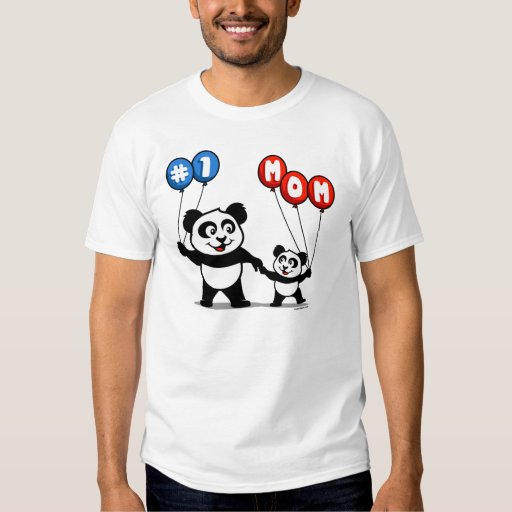 Number One Mom Panda Family T-Shirt