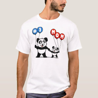 Number One Mom Panda Family T-Shirt