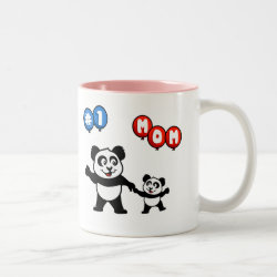 Two-Tone Mug with Number One Mom design