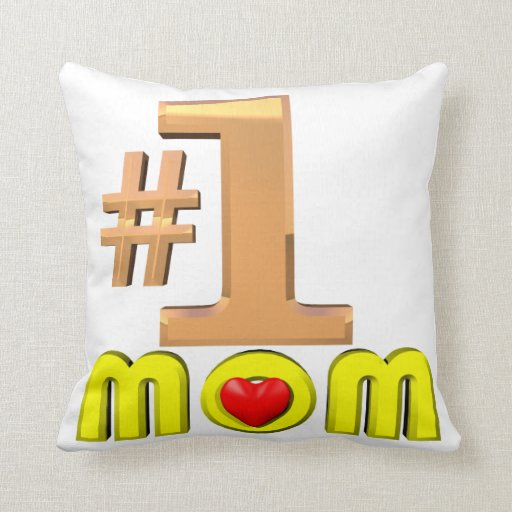 Number One Mom Pillow