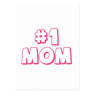 Number One Mom Postcard