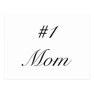 number one mom postcard