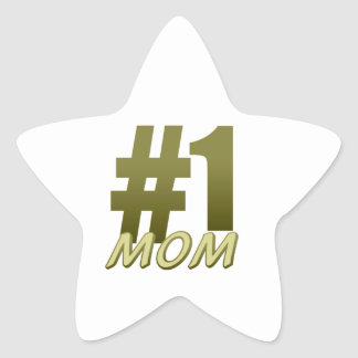 Number One Mom Star Sticker