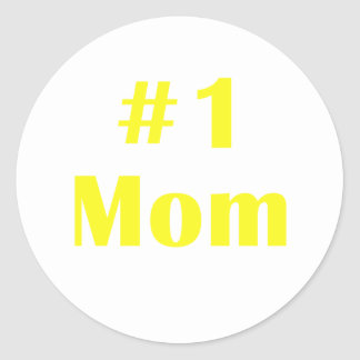 Number One Mom Classic Round Sticker