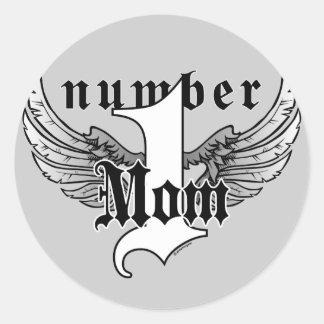 Number One Mom Sticker
