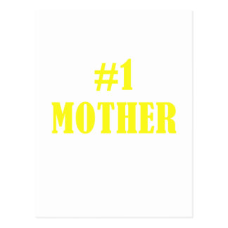 Number One Mother Postcard