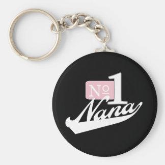 Number One Nana (White) Keychain