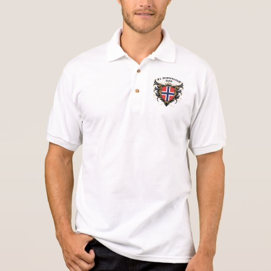 Number One Norwegian Dad Polo Shirt