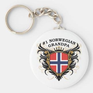 Number One Norwegian Grandpa Keychain
