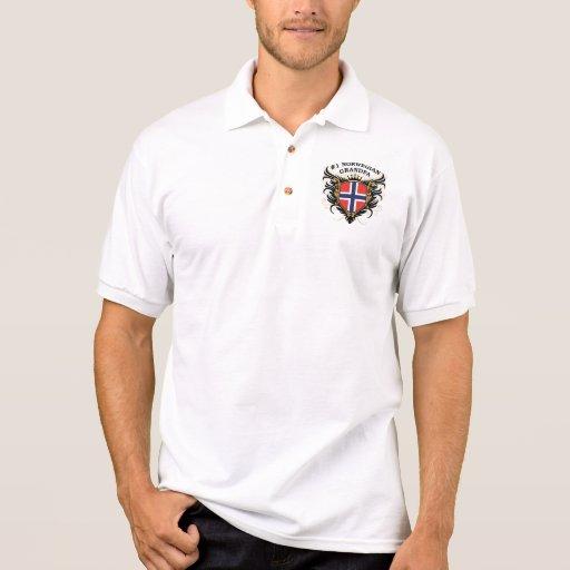 Number One Norwegian Grandpa Polo Shirts