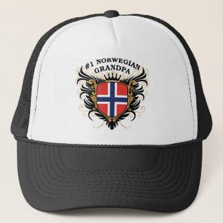 Number One Norwegian Grandpa Trucker Hat